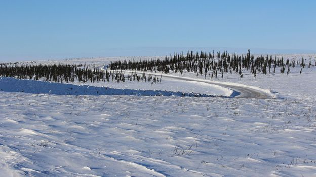 The highway opens Tuktoyaktuk year round to visitors, providing an opportunity for progress and possibility (Credit: Credit: Mike MacEacheran)