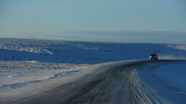 The Inuvik-Tuktoyaktuk Highway took four years and cost CAD$300 million to build (Credit: Credit: Mike MacEacheran)