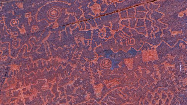The 1,000-plus petroglyphs found at V Bar V historical site are believed be an ancient calendar (Credit: Credit: Deborah Lee Soltesz/U.S. Forest Service Coconino National Forest)