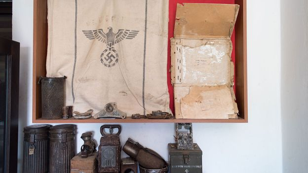 Stelios Tripalitakis has amassed a collection of more than 40,000 items left behind on Crete after World War Two (Credit: Credit: Louiza Vradi)