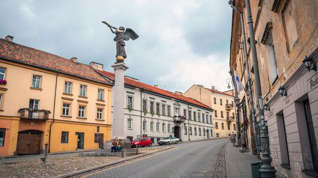 Although it began as an April Fools' Day joke, Užupis now has its own government, constitution and currency (Credit: Credit: Ana Flašker/Alamy)