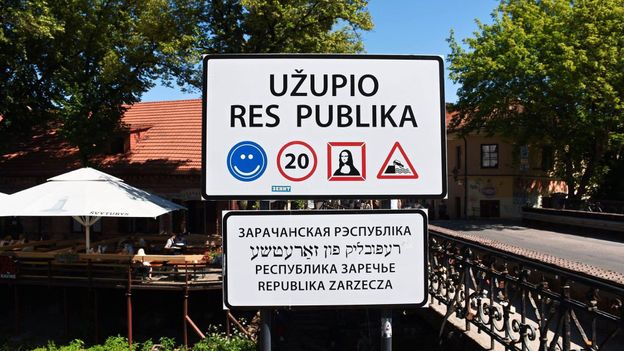 The Republic of Užupis covers less than 1 sq km within the Lithuanian capital of Vilnius (Credit: Credit: Leonard Saw)