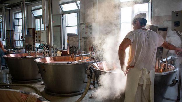 It takes 14 litres of milk to make 1kg of Parmigiano-Reggiano (Credit: Credit: Amanda Ruggeri)