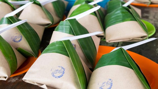 Malaysia's nasi lemak bungkus are served at roadside stalls or food trucks (Credit: Credit: James Talalay/Alamy)
