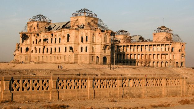 Though recently restored, Kabul's Darul Aman royal palace lay as an abandoned shell next to the museum for years (Credit: Credit: PhilMSparrow/Getty Images)