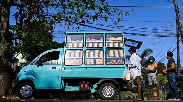 For years, the tinny sounds of Beethoven in Sri Lanka has been synonymous with fresh-baked bread (Credit: Credit: Lakrunwan Wanniarachchi/Getty Images)