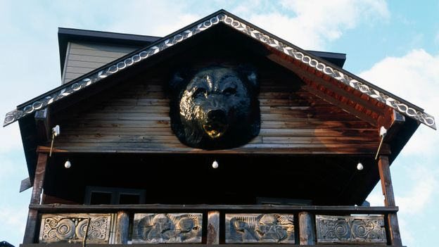 The Ainu worship the bear as a sacred animal, incorporating them into their architecture and traditions (Credit: Credit: DEA/W BUSS/Getty Images)