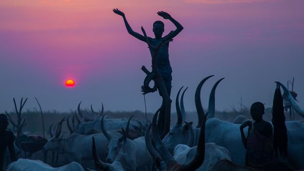 Today, Sudan is still home to a number of nomadic, pastoral tribes – such as the Hasania, Bisharin and Mundari (Credit: Credit: Eric Lafforgue/Art in All of Us/Getty Images)