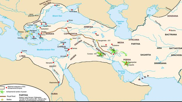 The Persian Royal Road built to facilitate communication throughout the Achaemenid Empire (Credit: Credit: CPA Media Pte Ltd/Alamy)