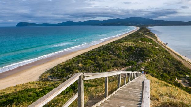 Located off the coast of Tasmania, Bruny Island is in fact two islands connected by an isthmus (Credit: Credit: Oliver Koch/Getty Images)