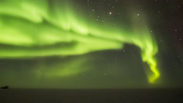 Auroras close to the North or South Pole will likely appear green (Credit: Credit: Adam Jones/Getty Images)