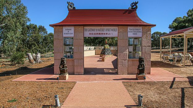 Princess Shirley's Sacred Educational Shrine was built to honour Leonard's wife, who passed away in 2013 (Credit: Credit: Richard Collett)