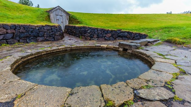 Snorri's Pool is evidence that Icelanders used geothermal pools as far back as the 13th Century (Credit: Credit: Thomas H Mitchell/Getty Images)