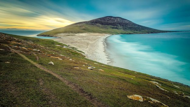 The Pole-Evans family run a sheep farm on Saunders Island and are the island's only permanent residents (Credit: Credit: David Merron/Getty Images)