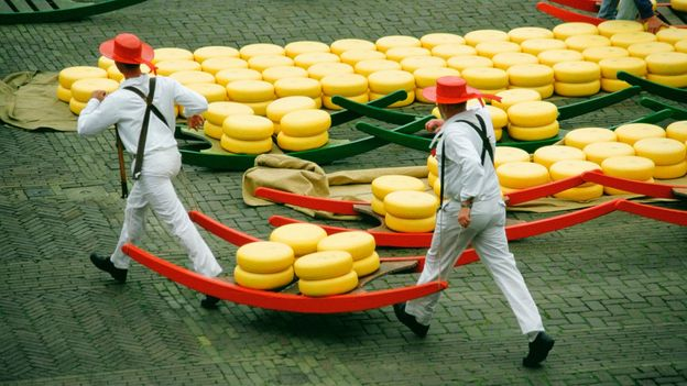 Alkmaar cheese market is the oldest and biggest in the Netherlands (Credit: Credit: Glow Images/Getty Images)