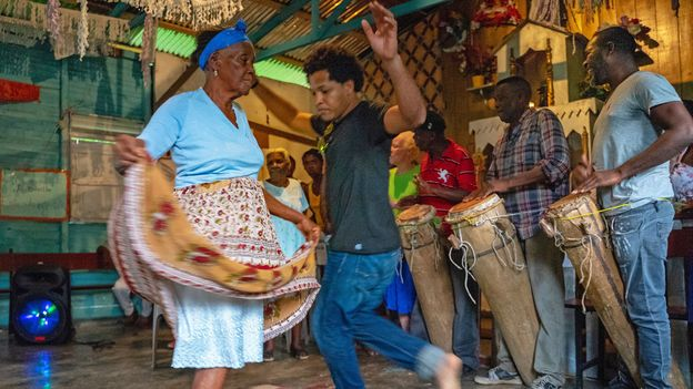 The DR still has many communities founded by Africans centuries ago that have preserved their ancient musical traditions (Credit: Credit: Lebawit Lily Girma)