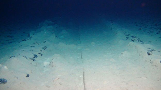The unseen man-made 'tracks' on the deep ocean floor