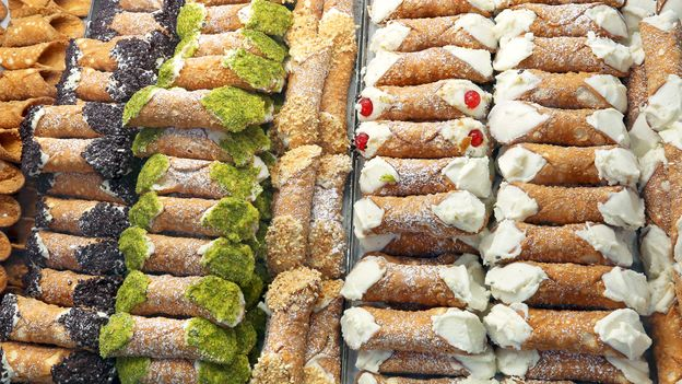 Over time, most Sicilian cannoli have changed in flavour and ingredients – and have spread worldwide (Credit: Credit: ChiccoDodiFC/Getty Images)