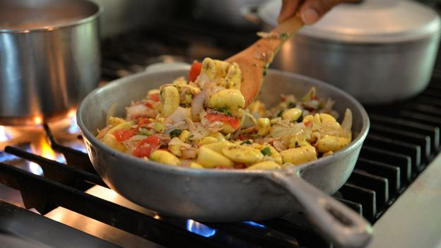 Ackee and saltfish, sautéed with chillies, onions and tomatoes, is Jamaica's national dish (Credit: Credit: Didi Beck/Getty Images)