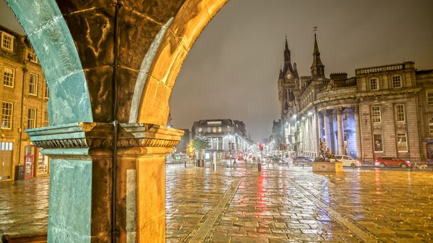 Aberdeen's distinctive appearance comes from the local grey granite that many of the buildings are made from (Credit: Credit: Susanne Neumann/Getty Images)