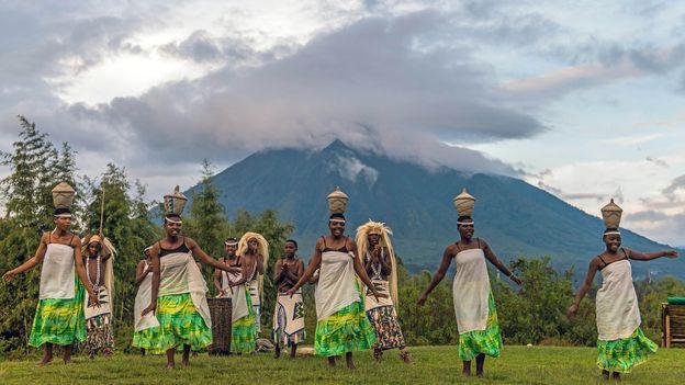 A number of popular Rwandan dances emulate the movement of cows (Credit: Credit: Renato Granieri/Alamy)