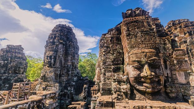 Bayon Temple is a 12th Century shrine at the heart of Cambodia's sprawling Angkor site (Credit: Credit: Sakchai Vongsasiripat/Getty Images)
