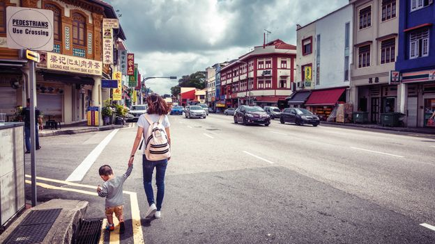 Located on the eastern edge of central Singapore, Geylang is the only legalised red-light district in the city (Credit: Credit: Shan Shihan/Getty Images)