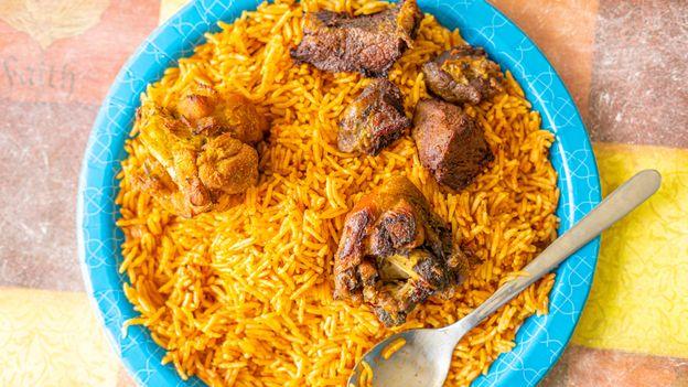 Jollof rice is popular throughout West Africa (Credit: Credit: Osarieme Eweka/Getty Images)