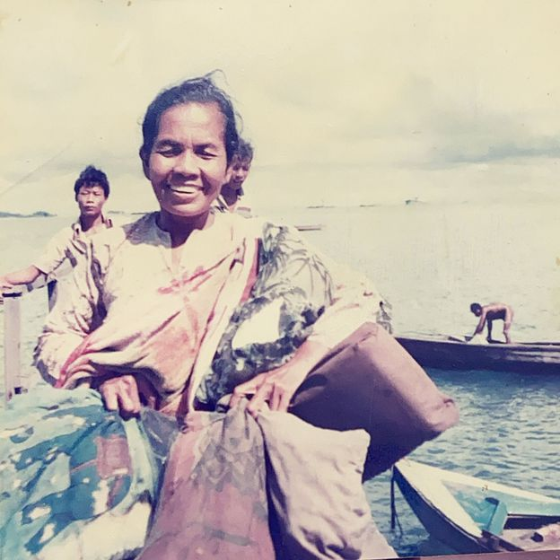 Firdaus remembers foraging trips to Pulau Semakau, when his grandmother (pictured) would transform the collected spider conch into a sambal dish (Credit: Orang Laut Singapore)