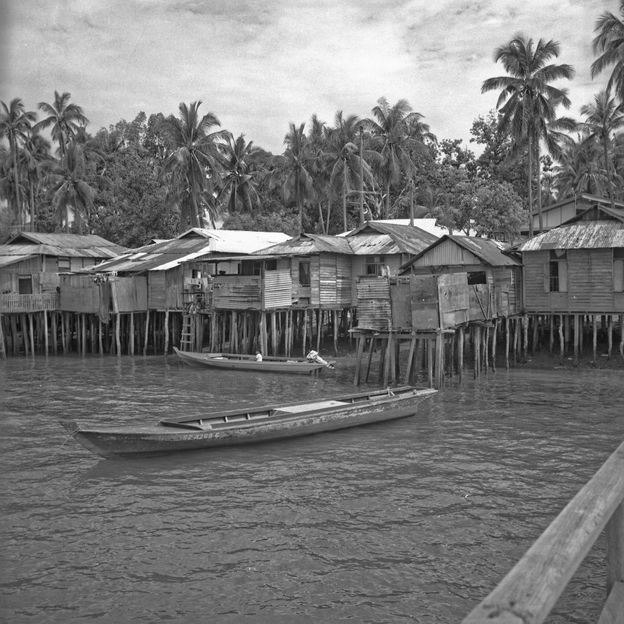Singapore's last Orang Laut settlement, on Pulau Seking, was demolished in 1993 and the island merged with Pulau Semakau to become a landfill (Credit: Geoffrey Benjamin)