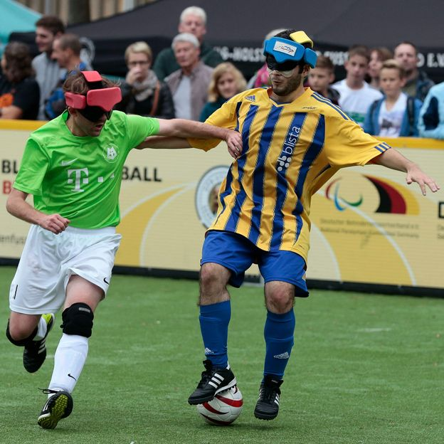 Marburg's blind football team has been particularly successful over the years (Credit: Oliver Hardt/Getty Images)