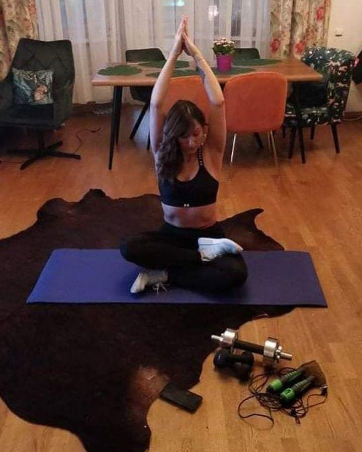 Diana Zukova prioritises fitness, switching between yoga, running and virtual workout classes (Credit: Diana Zukova)