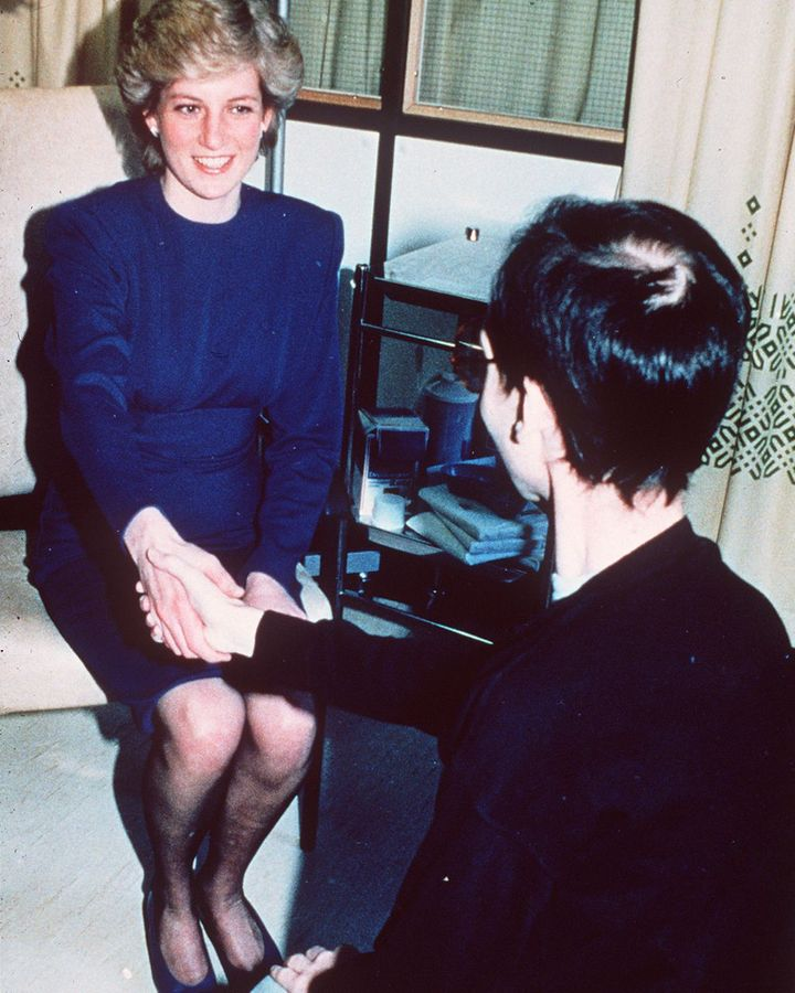 When the late Princess of Wales took the hand of an HIV patient in hospital it helped to dispel some of the stigma surrounding the disease (Credit: Getty Images)