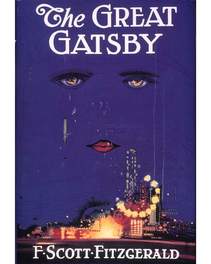 F Scott Fitzgerald liked the artwork for The Great Gatsby's 1925 cover – Celestial Eyes by Francis Cugat – so much that he wrote it into the book (Credit: Alamy)
