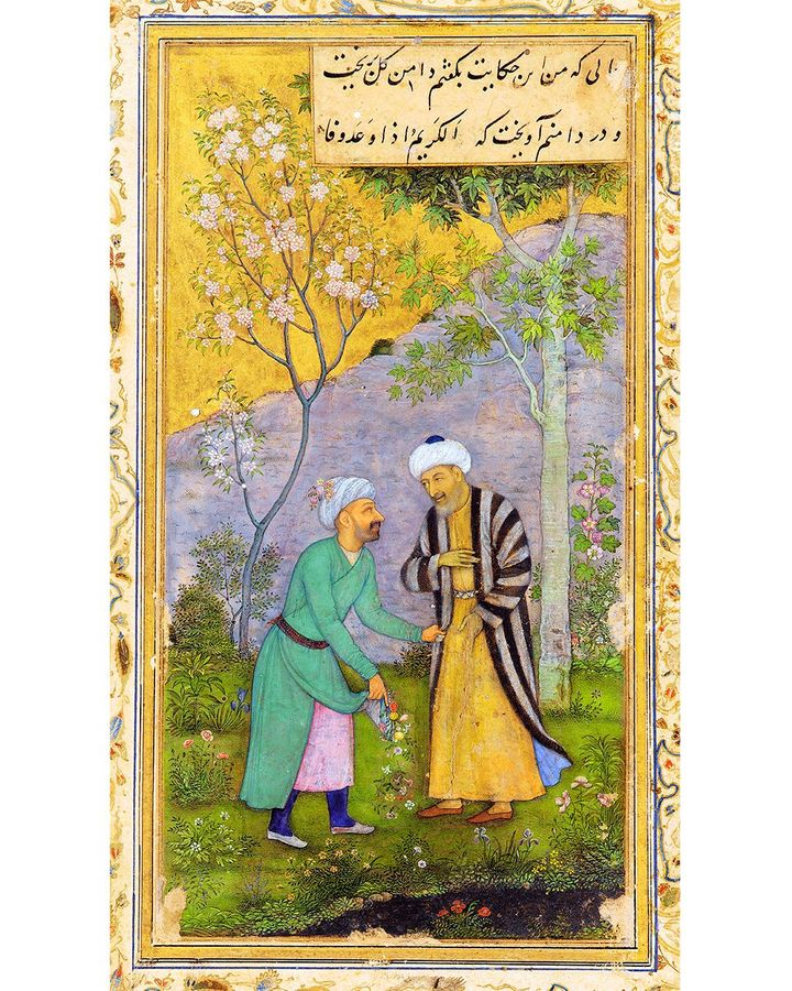 The poet had the idea of writing his book Golestan (Flower Garden) while strolling with a friend in springtime (Credit: Alamy)