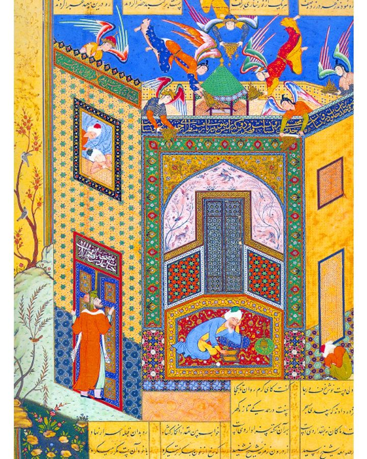 Sa'di is the central figure in this 16th-Century manuscript that highlights the poet's mysticism (Credit: Alamy)