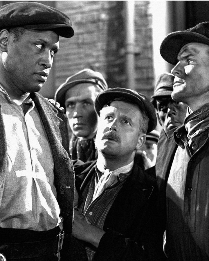 The Proud Valley stars the singer, actor, and civil rights activist Paul Robeson as David Goliath, a US miner searching for employment in rural Wales (Credit: Alamy)