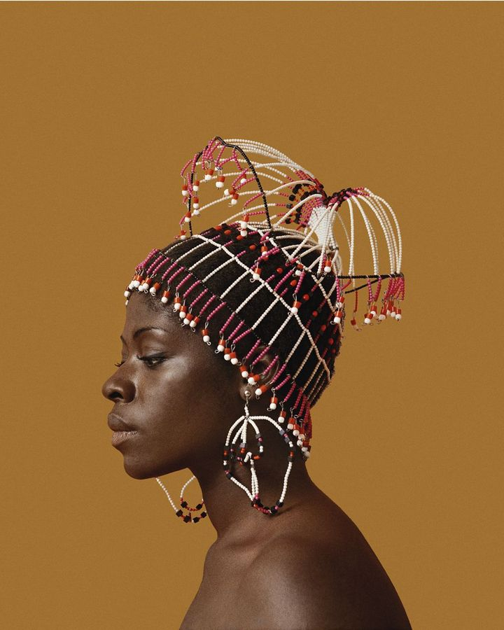 This portrait of the photographer's wife, Sikolo Brathwaite, is displayed at the Black is Beautiful exhibition (Credit: Courtesy of the artist and Philip Martin Gallery, LA)