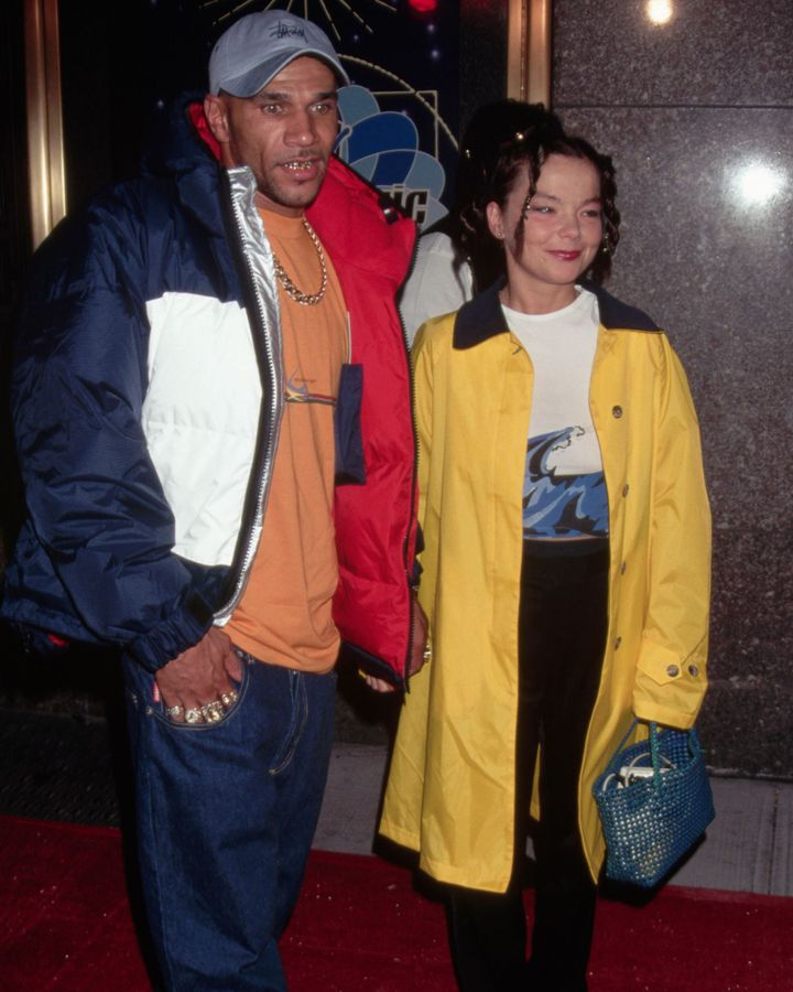 Homogenic was born out a turbulent period for Björk, which included a relationship with fellow musician Goldie (Credit: Getty Images)