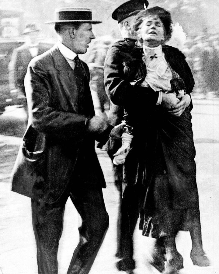 The struggle of suffragettes like Emmeline Pankhurst led to women's right to vote, but many disapproved at the time (Credit: PA)