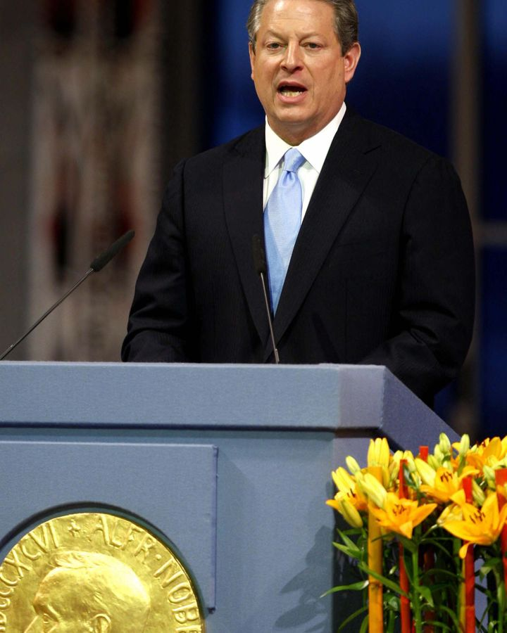 """Rather than climate activists, the 2007 Nobel Peace Prize went to Al Gore and the IPCC. """"A UN organisation and a seasoned politician,"""" Butera notes (Credit: Getty Images)"""