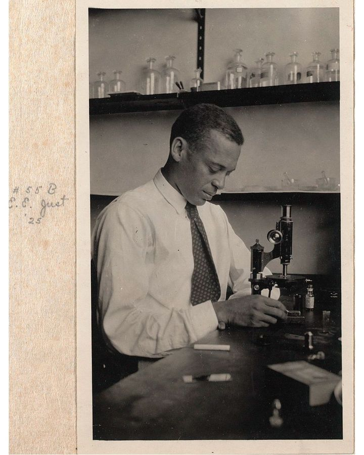 As well as Young's mentor, Ernest Just, shown here in 1925, was a towering figure in Howard University's biology department (Credit: Marine Biological Laboratory Archives)