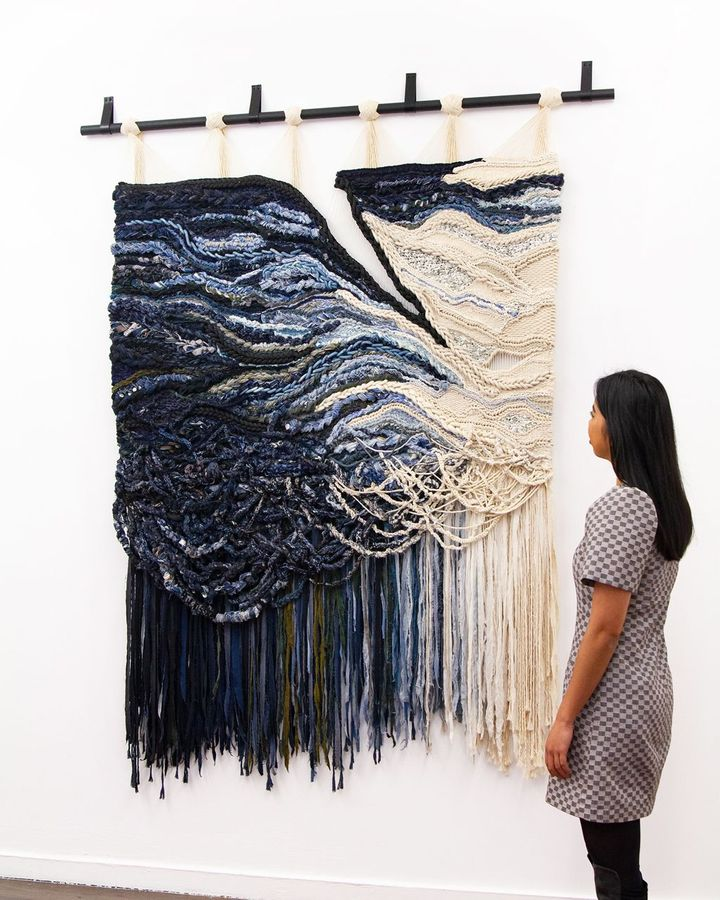 Design duo Crossing Threads create large-scale tapestries with rugged, raw-looking textures (Credit: Crossing Threads)