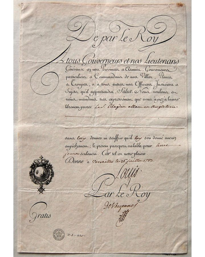 The earliest passports were a single sheet of paper with no photograph (Credit: Trustees of the British Museum)