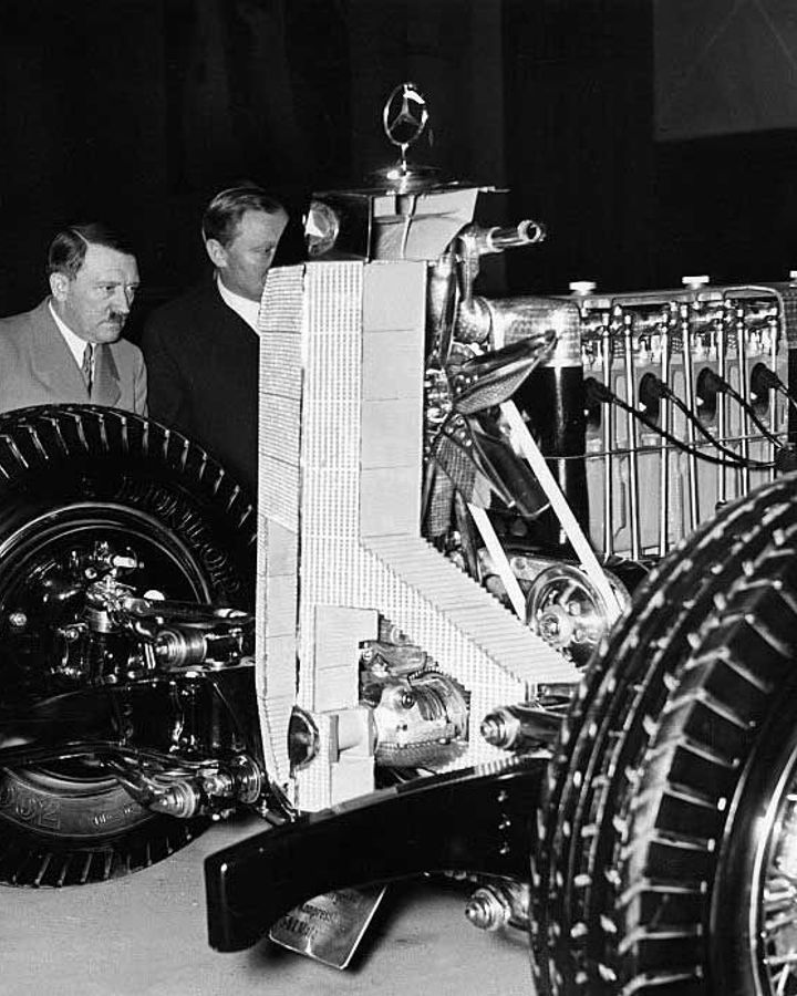 Hitler inspects advanced German engineering of the time - what if it had given the Nazis an unbeatable advantage? (Credit: Getty Images)