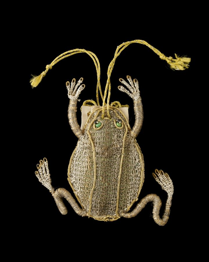 The frog purse from the 1600s is on display at the V&A's Bags: Inside Out exhibition (Credit: Ashmolean Museum, University of Oxford)