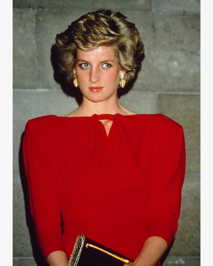 Princess Diana frequently sported typically 80s hair – big, bold and a complete change from the previous long, natural, hippy looks (Credit: Getty Images)