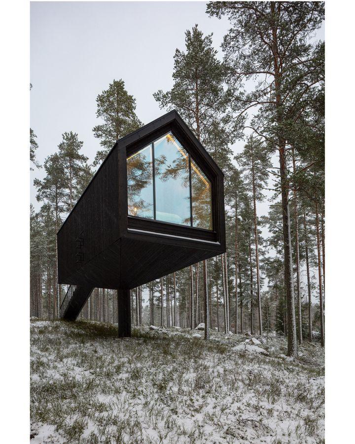 In rural Finland, Studio Puisto's Niliaitta prototype perches on a single column (Credit: Marc Goodwin Archmospheres)