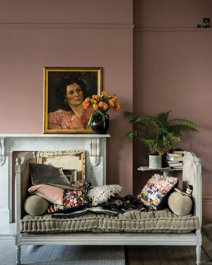 Dusky pink paints are sought after at the moment – including Sulking Room Pink (Credit: Farrow & Ball)