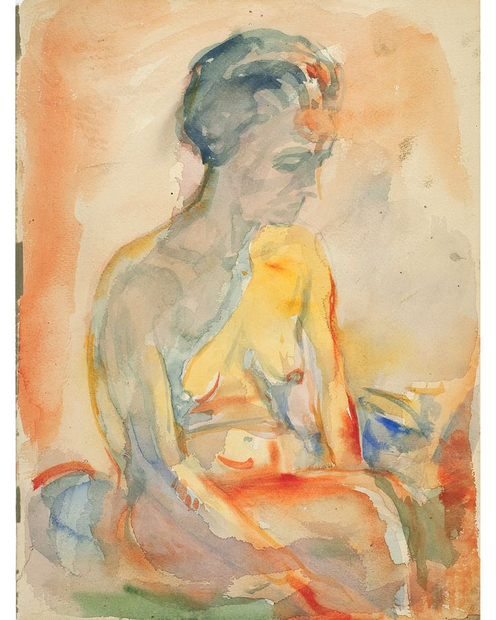 There is a sense of aloneness about Munch's work including Seated Female Nude, 1923-33 (Credit: Munchmuseet)